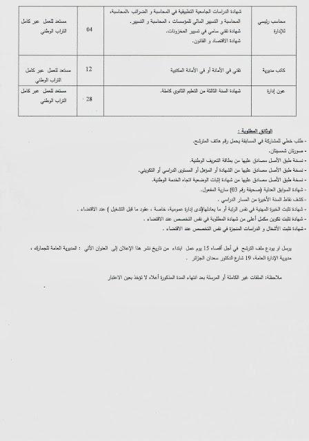 توظيف 100منصب اداري بالمديرية العامة للجمارك Doaune2