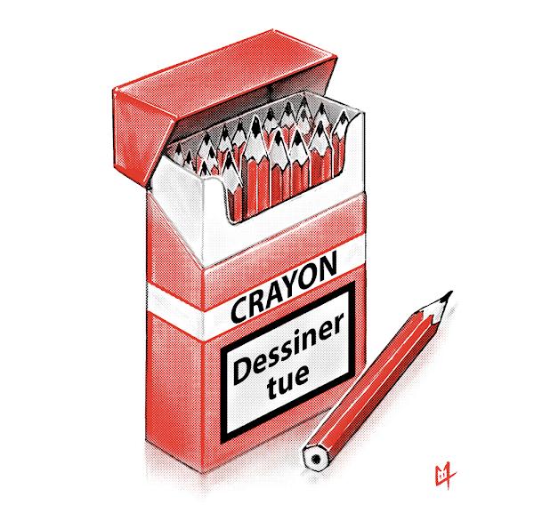 Dessiner tue - Hommage aux victimes de l'attentat de Charlie Hebdo