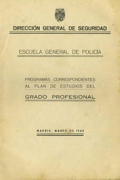 1943 PROGRAMAS DE ESTUDIOS DE