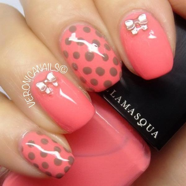 Nail Art Design 2014: Hot pink nail art for summer