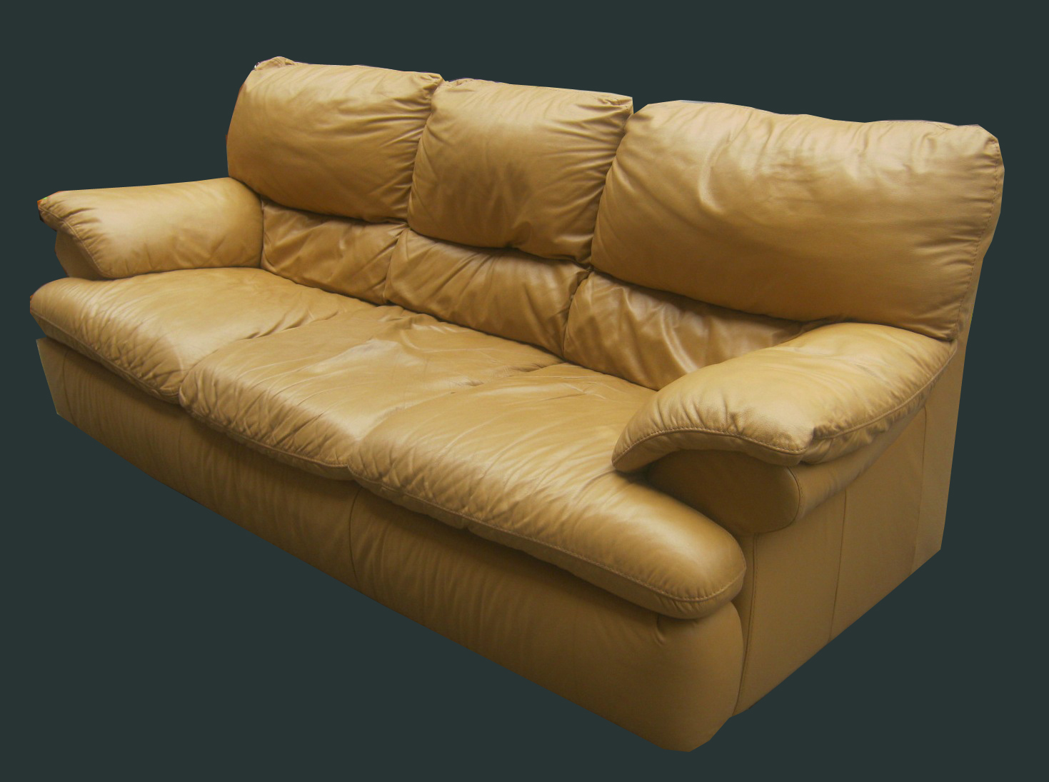Butterscotch Leather Sofa U0026 Loveseat SOLD