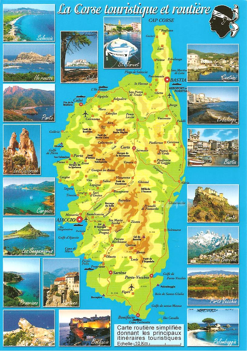 MY POSTCARD-PAGE: FRANCE ~Corsica - Map ~