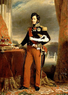 Portrait of French King Louis Philippe by Franz Xaver Winterhalter looking a lot less gay than some other French Kings.