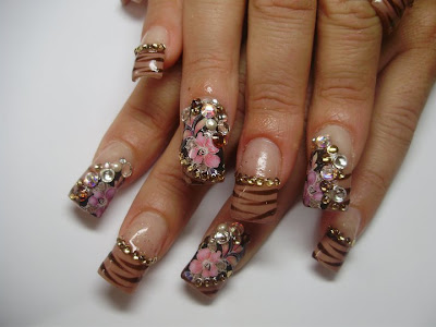 16 Animal print nails design decorated as French Manicure   Latest nail manicure trends