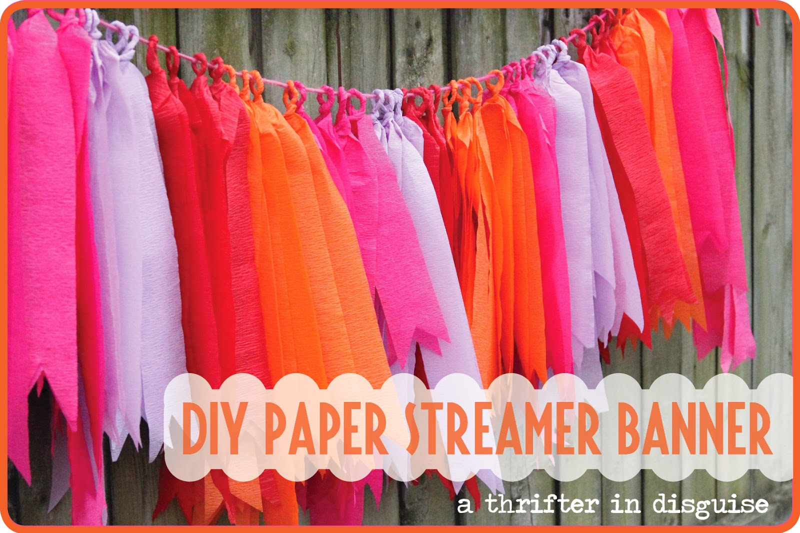 A Thrifter in Disguise DIY Crepe Paper Party Banner