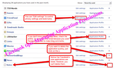 Facebook tips: Managing Application Permissions