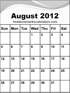 printable august 2012