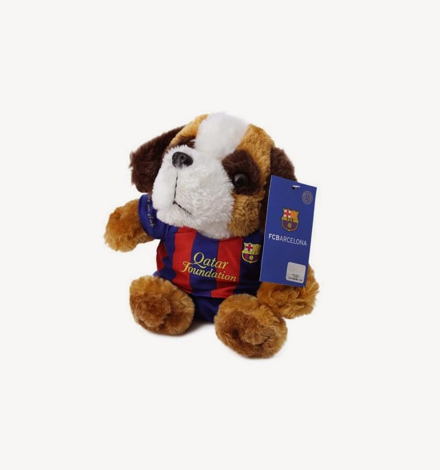 Perro Peluche que canta el Himno del Barcelona