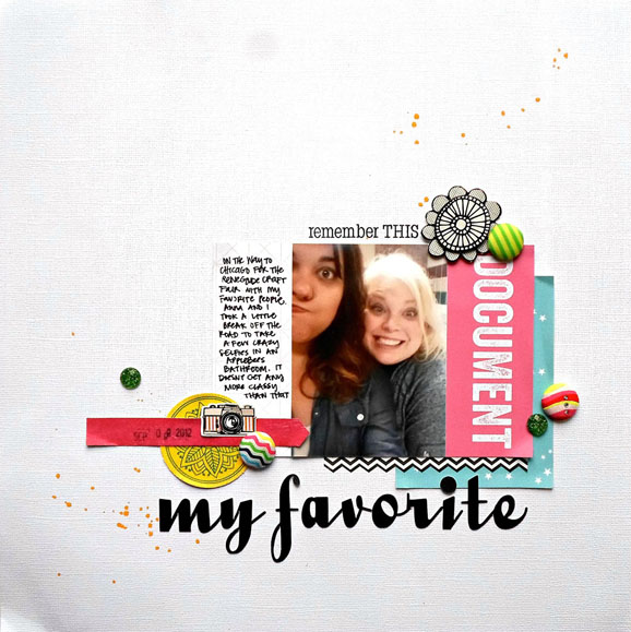 Neon Scrapbook Layout
