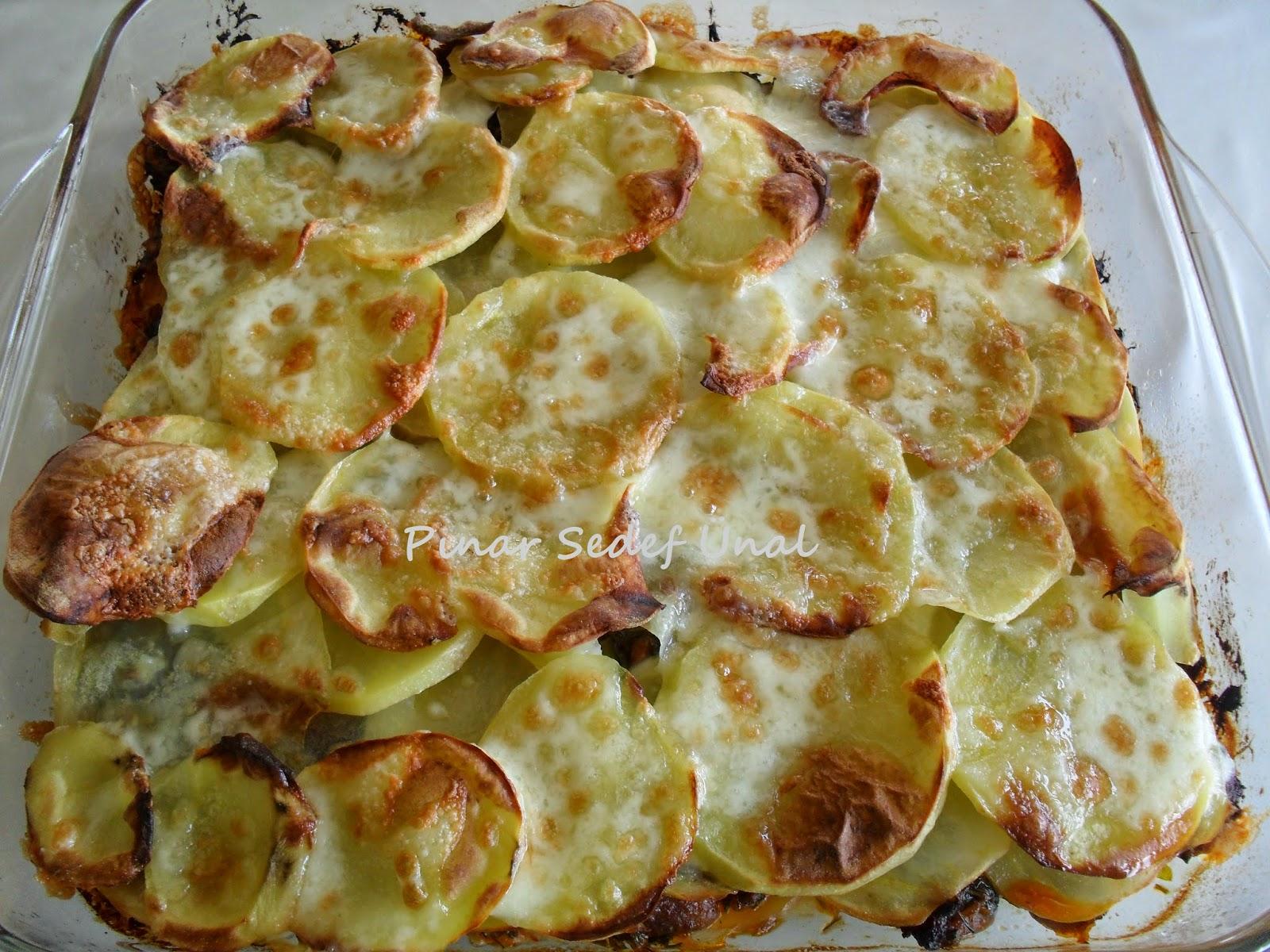 Tavuklu Patates Yemekleri Tavuklu Patates Lazanya