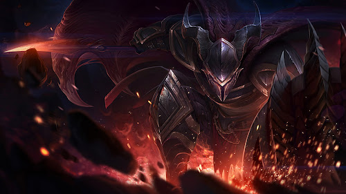 dragonslayer pantheon champion skin splash art league of legends