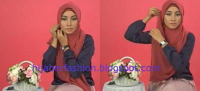 Tutorial 3 Langkah Mudah Hijab Paris   Tutorial Hijab