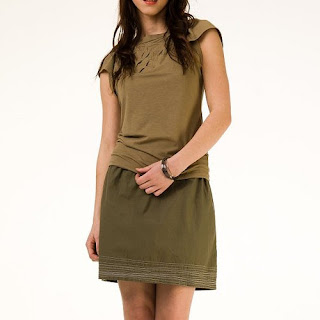 Line Skirt in Olive