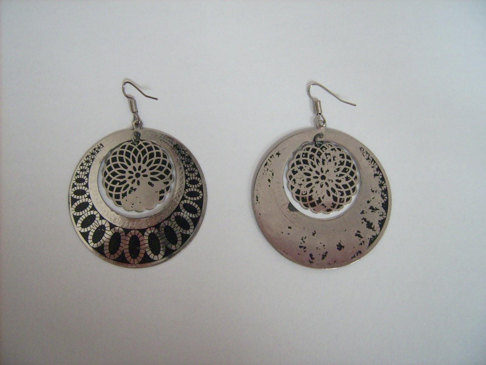 upcycle earrings nail polish