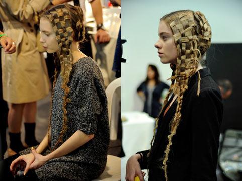 Зачіски на довге волосся від alexander mcqueen