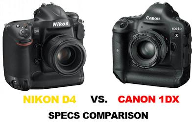 Canon EOS 1DX VS Nikon D4