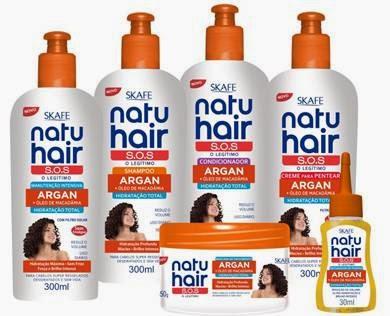 Lançamento Skafe - Natu Hair S.O.S Argan + Óleo de Macadâmia Hidratação total