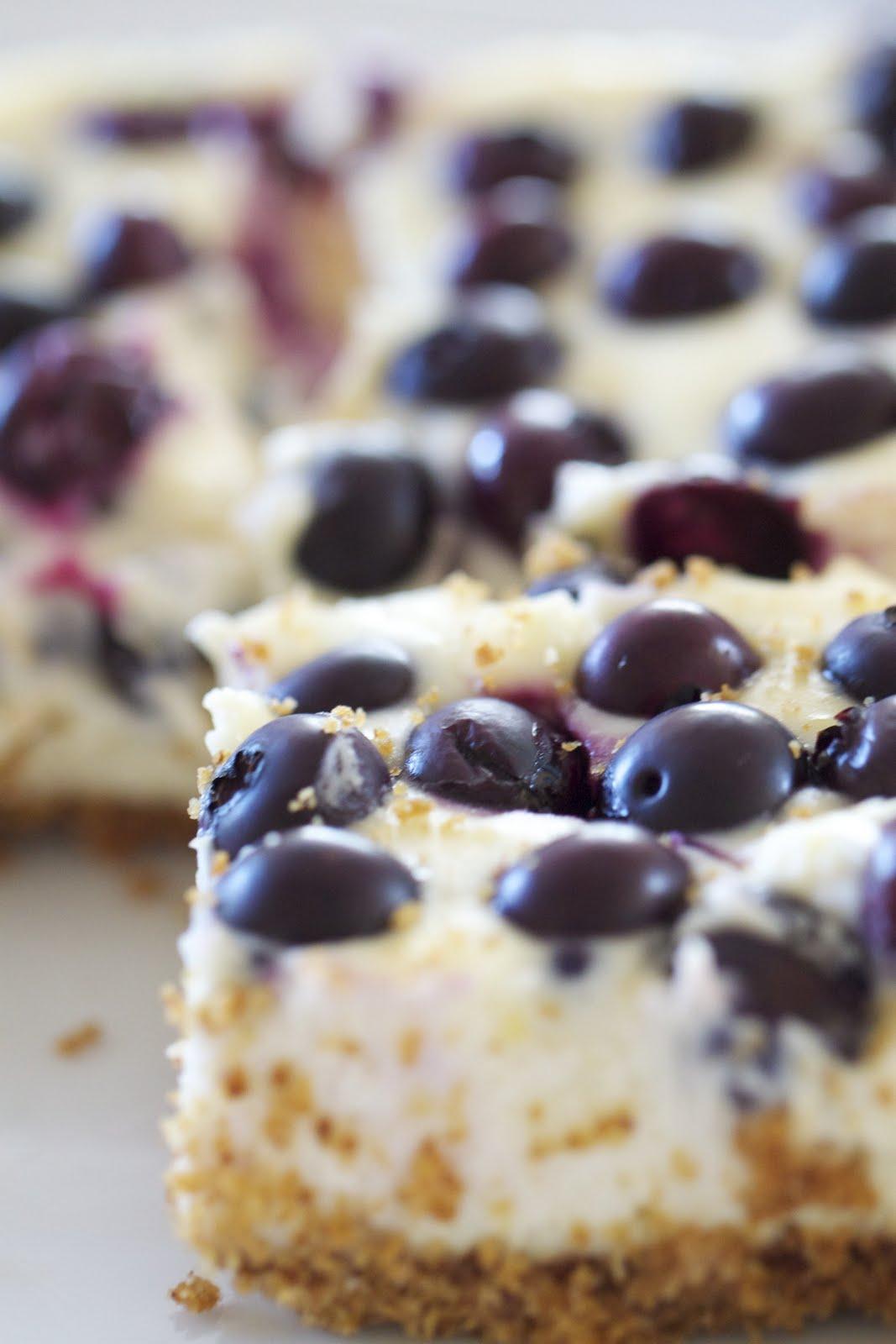 Epicurean Mom: Lemon Blueberry Cheesecake Bars