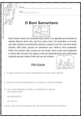 O bom samaritano - Atividade
