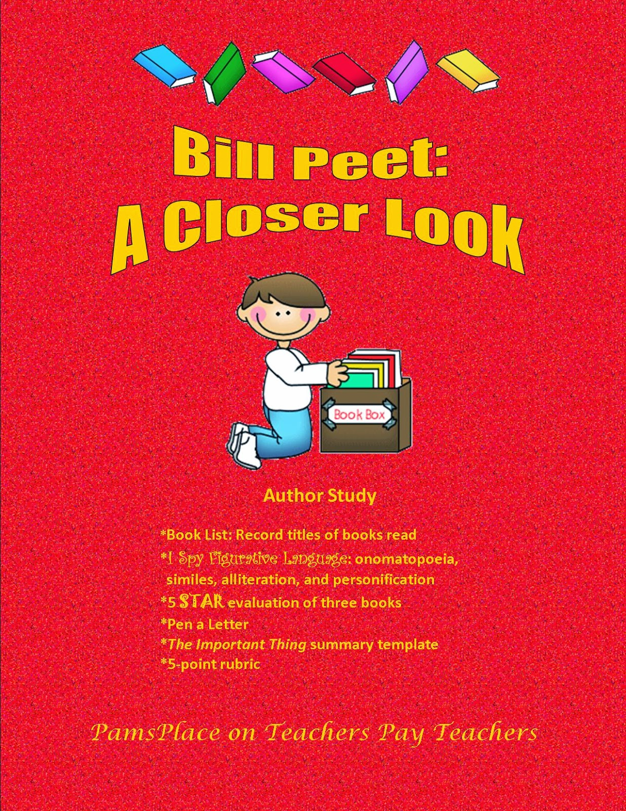 http://www.teacherspayteachers.com/Product/Author-Study-with-a-TwistBill-Peet-A-Closer-Look-245621