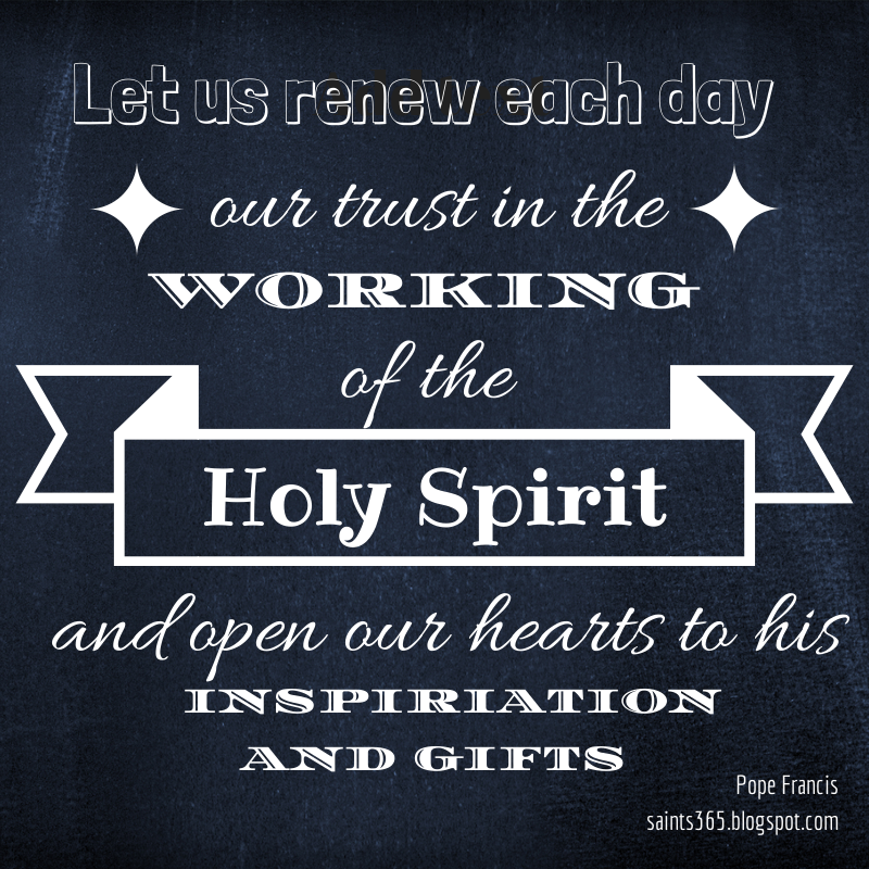 Quotes About The Holy Spirit Amusing Saints 365 Pope Francis Quotes On The Holy Spirit