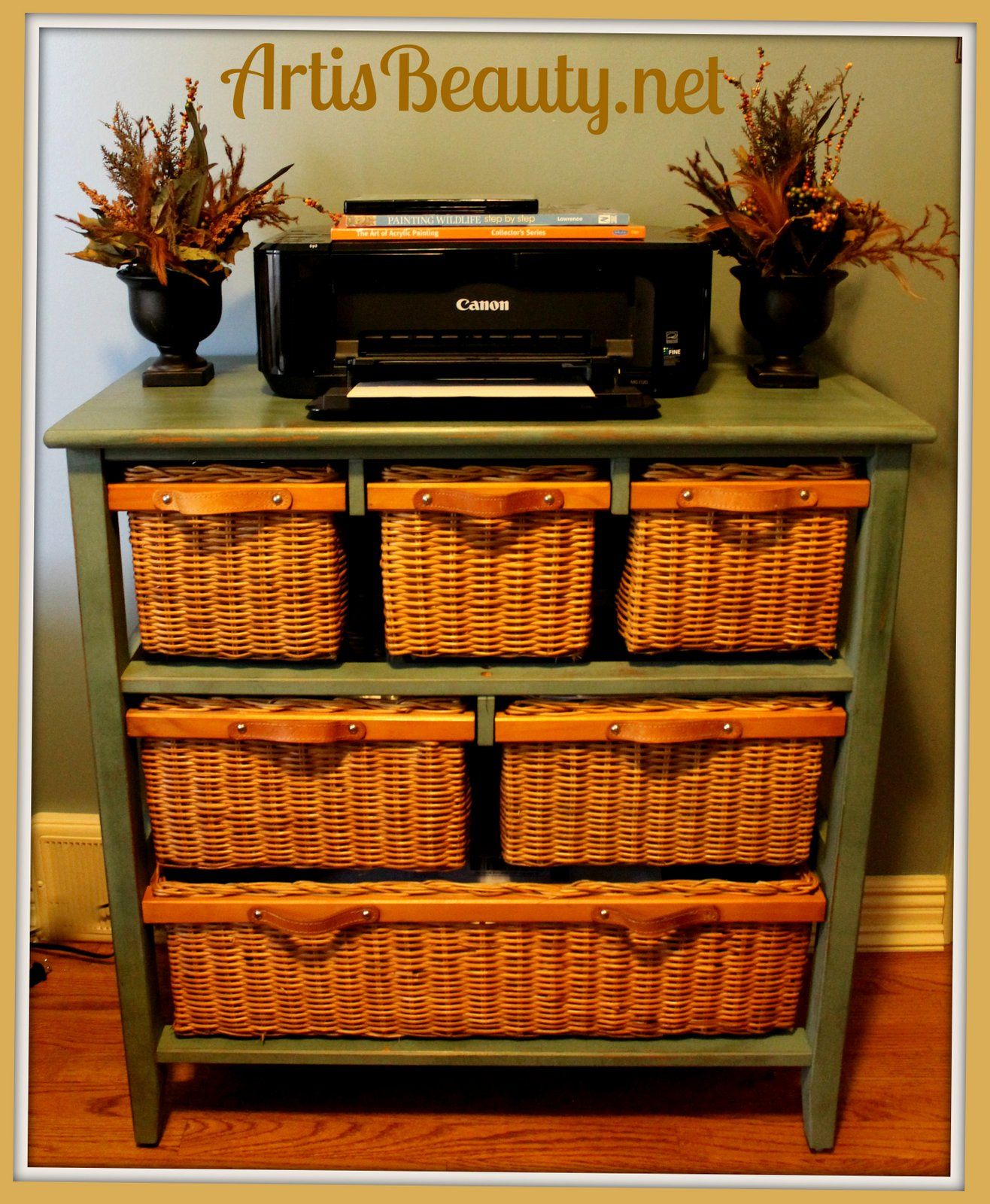 Art Is Beauty Wicker Storage Basket Dresser Make Over