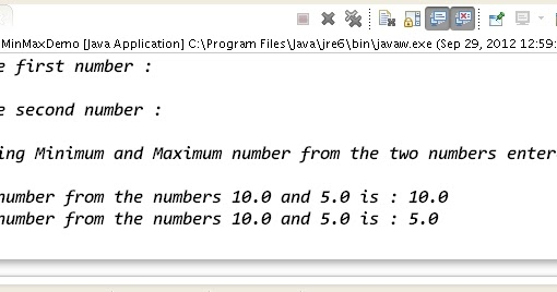 How To Calculate Minimum And Maximum Of A Number Using