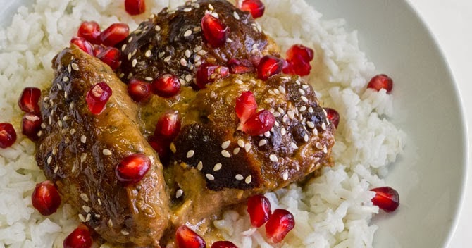 Cooking Weekends: Chicken with Tahini & Pomegranate Sauce