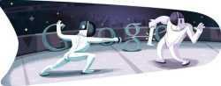 Londres 2012 esgrima doodle de Google del 29 de julio