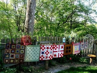 Small Quilts on a Clothesline