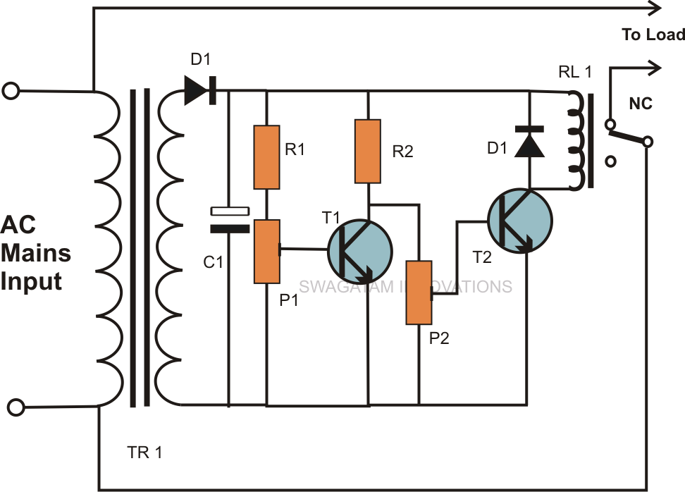 mains over voltage and under voltage protection circuit explained mains over voltage and under voltage cut of circuit explained