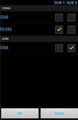 Menu SIM Rium Andromax C