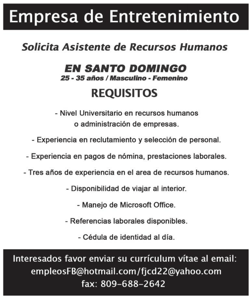 Las oportunidades de trabajo en Recursos Humanos