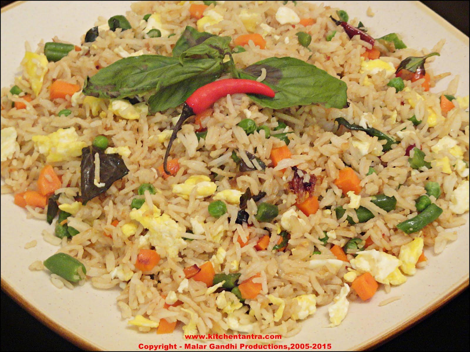Thai Fried Rice With Chicken Khao Pad Namprik Pao Sai Kai Pictures