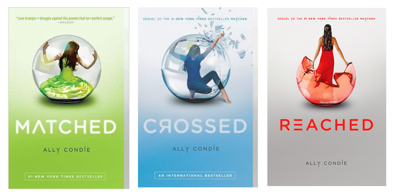 Matched Series Book Cover ~ The literary connoisseur matched trilogy by ally condie