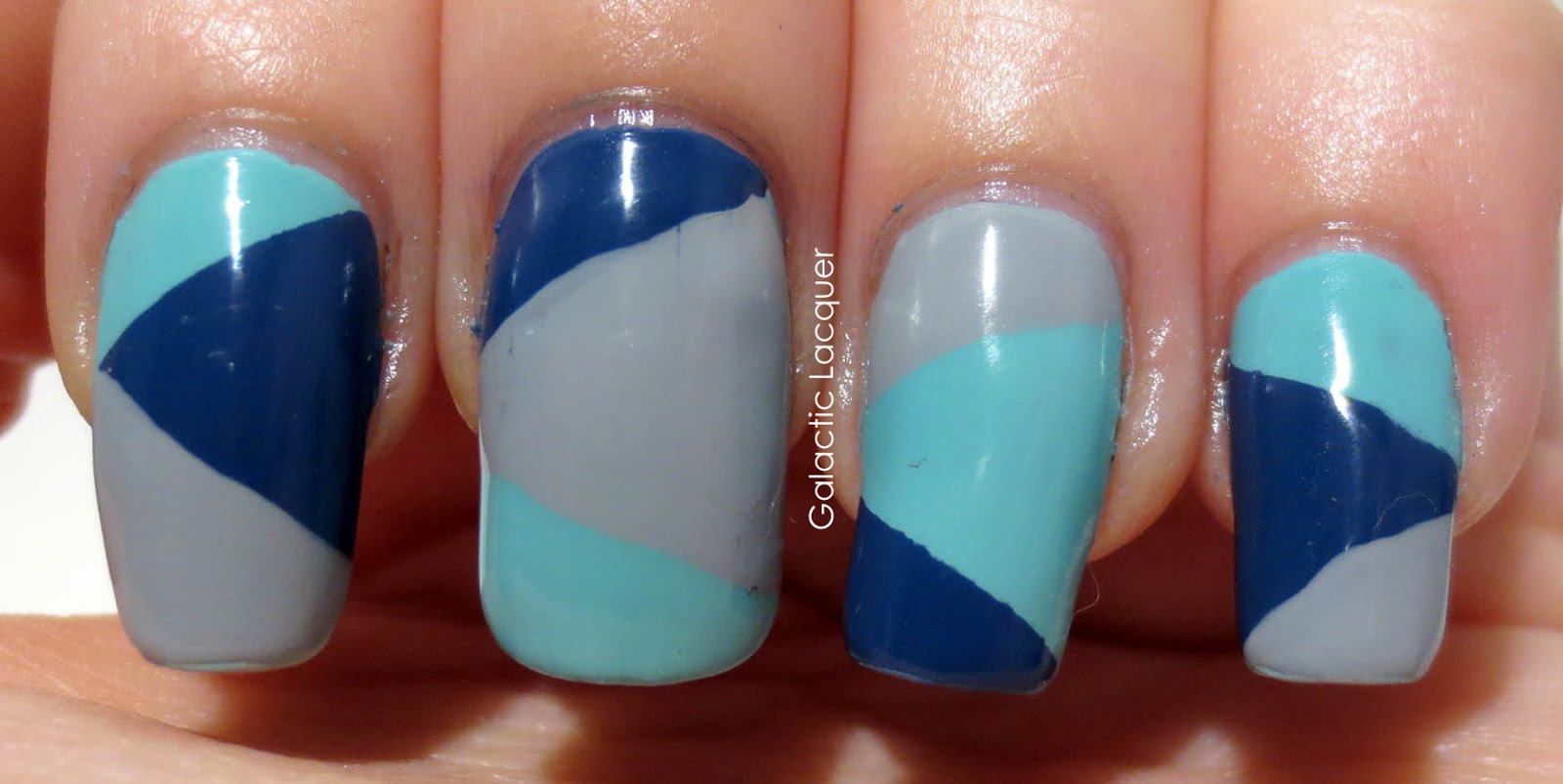 Galactic Lacquer Flip Flop February Color Blocking