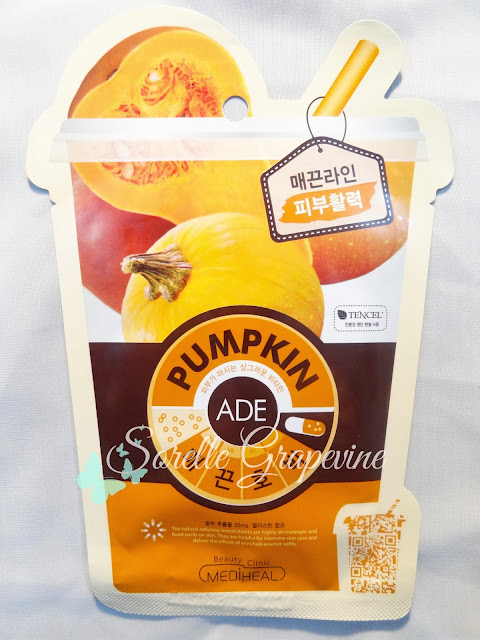 L&P Pumpkin Ade Face Mask Sheet