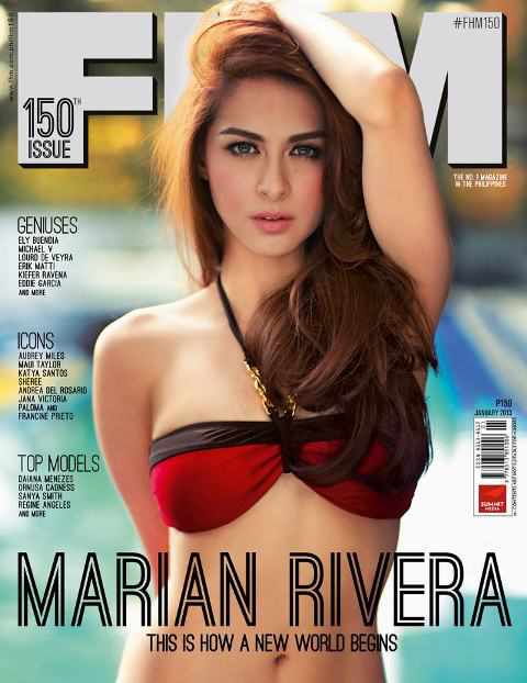 FHM Philippines january 2013 cover photo image pictures latest of Marian Rivera