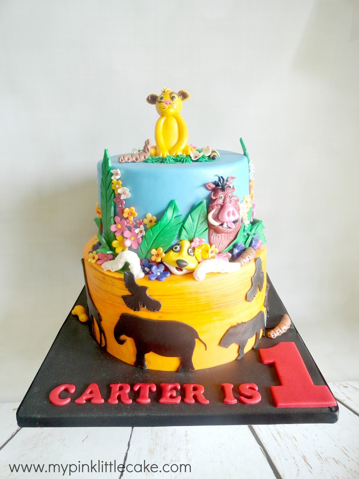 My Pink Little Cake Lion King Theme Cake And Cookie Favors