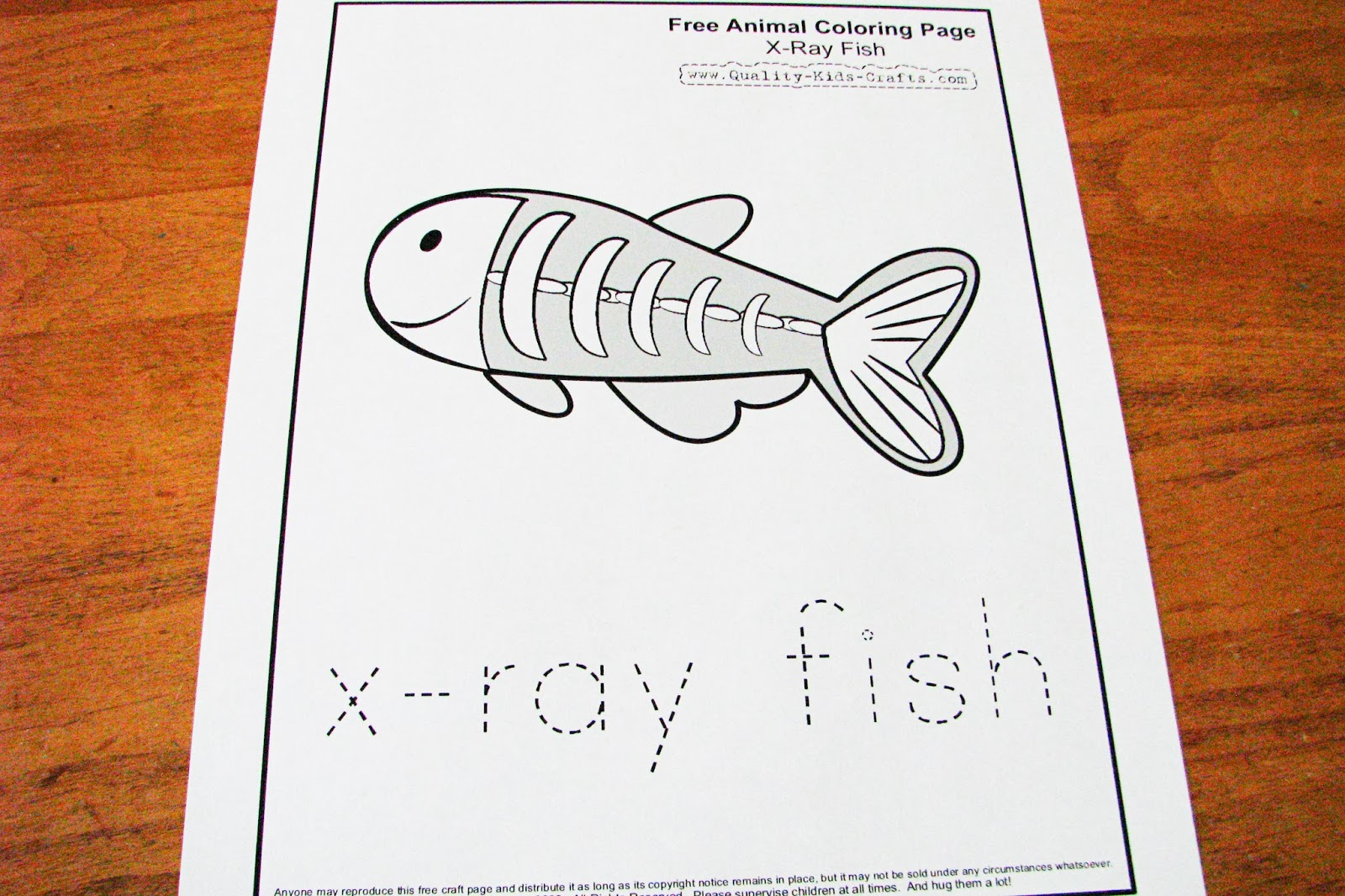Free coloring pages x ray - Letter X X Ray Fish Preschool Theme