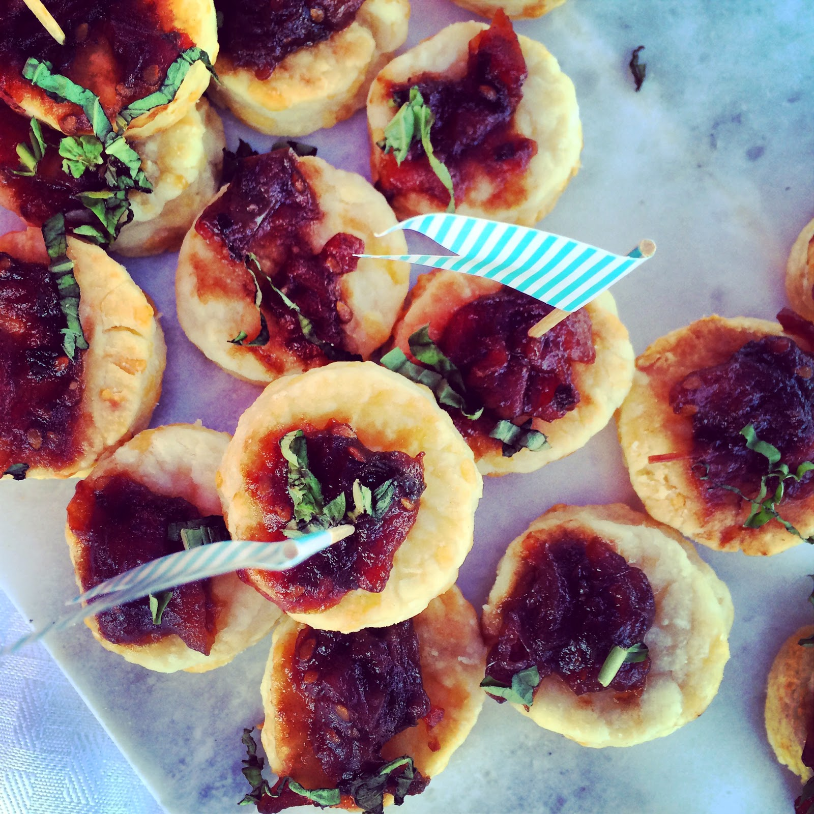Canapés for PVD Lady Project at Newport Polo