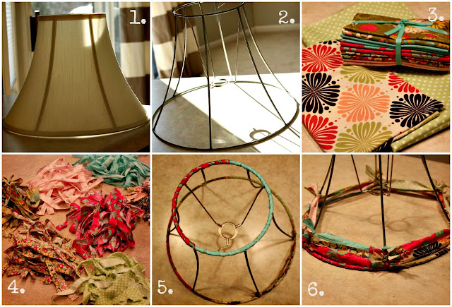 how to make a fabric strip lampshade via housebyhoff.com