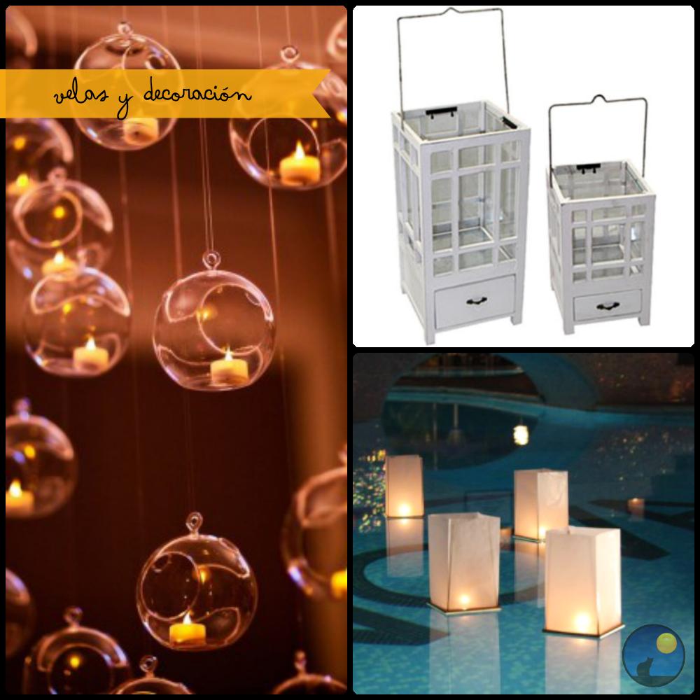 velas y decoración envelados mush