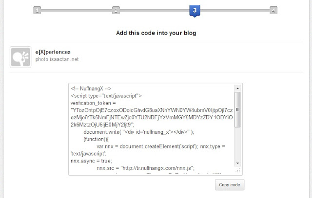 Step#3 Add the codes, proof you're the owner of your blog!