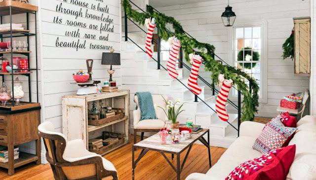дизайн новогодней гостиной