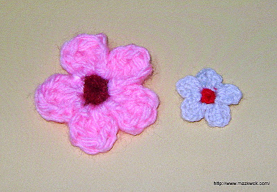 crochet cherry blossom applique