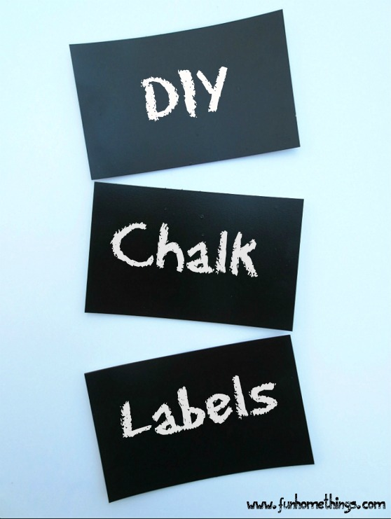 Fun home things for Diy chalk labels