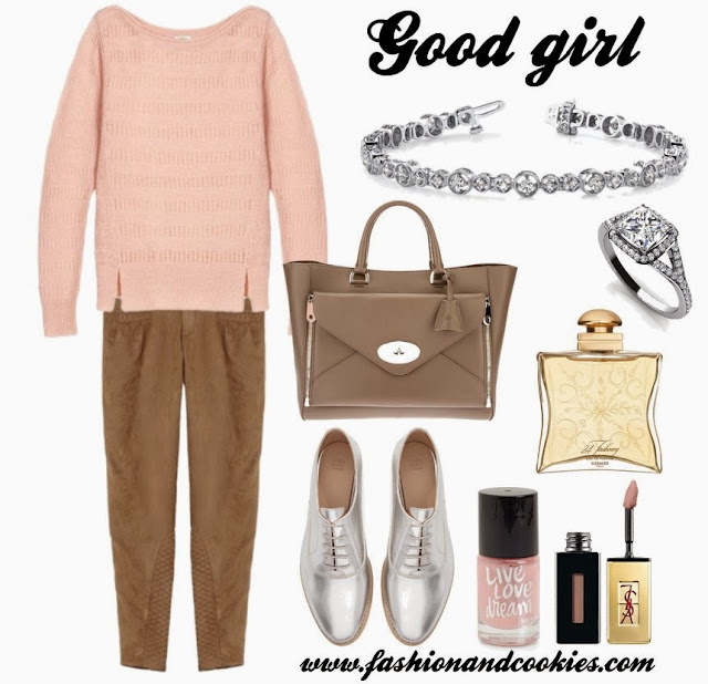 Good girl look, fashion blogger, fashion and cookies, Mulberry The willow bag, anjolee diamond bracelet