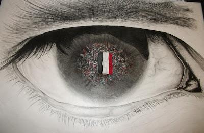 رسم العين بالرصاص