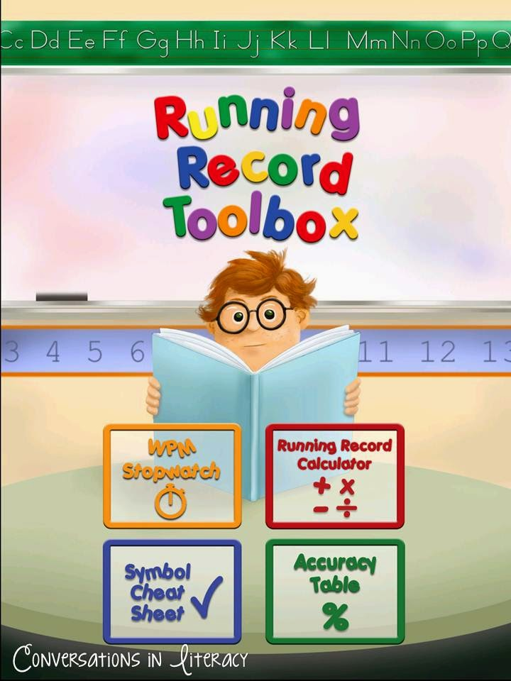 Running Records Toolbox app
